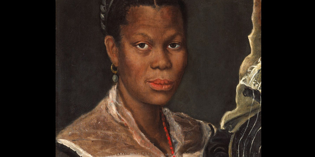 1583/5 – Annibale Carracci, Portrait of a Woman Holding a Clock