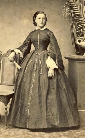 Woman in day dress