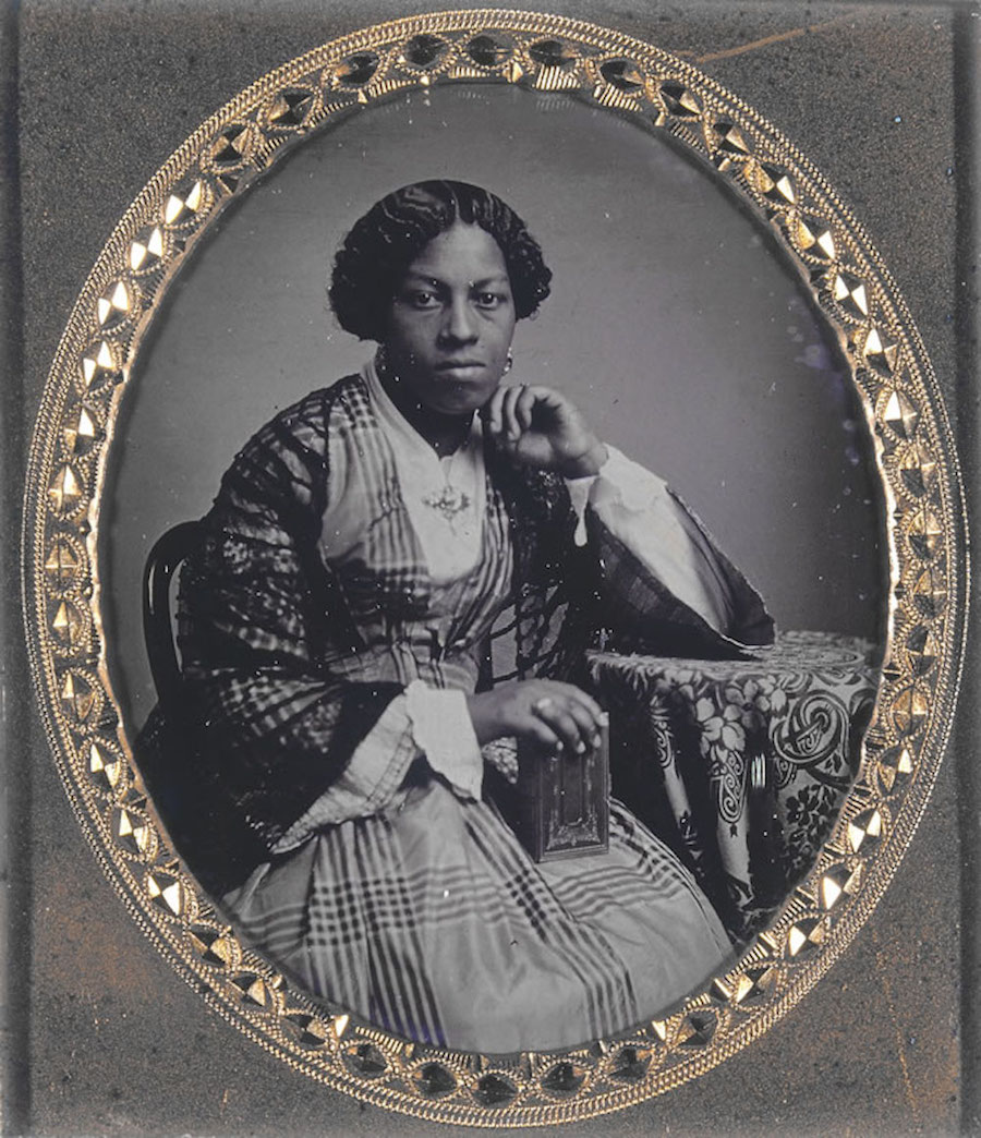 Unidentified African American woman with book
