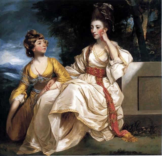 Portrait of Hester Thrale and her daughter Hester