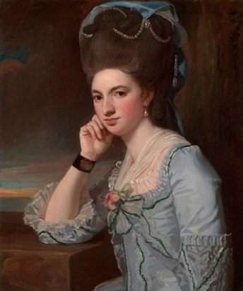 Portrait of a Young Woman in Powder Blue