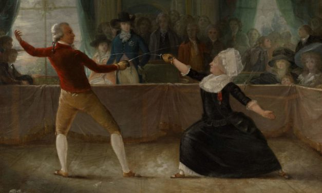 1787-9 – Alexandre-August Robineau, The Fencing-Match between the Chevalier de Saint-George and the Chevalier d'Eon