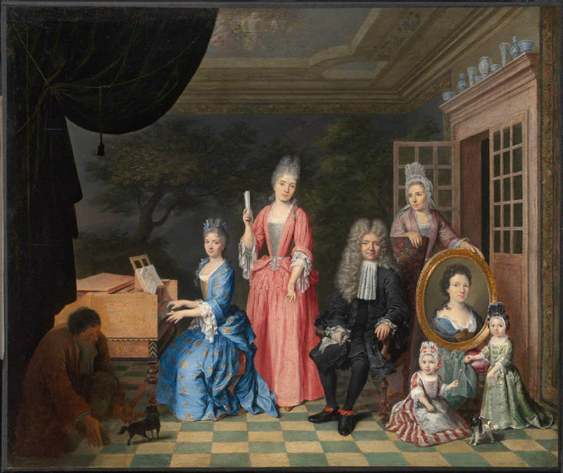 Portrait of a Family in an Interior