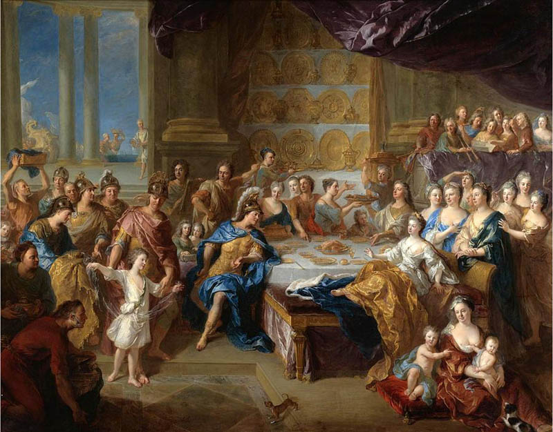The Feast of Dido and Aeneas: An Allegorical Portrait of the Family of the Duc and Duchesse du Maine