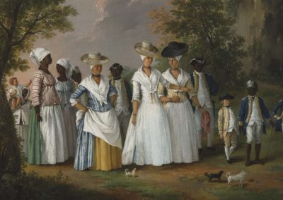 1770-96 – Agostino Brunias, Free Women of Color with Their Children and Servants in a Landscape