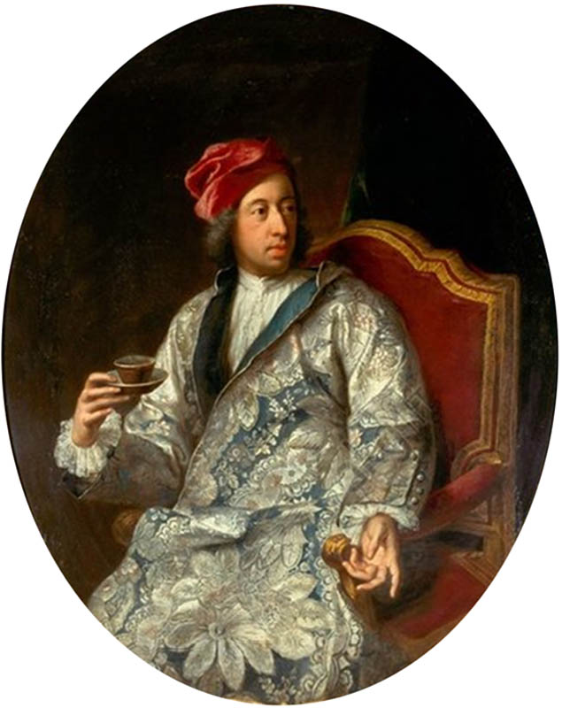 Portrait of the Elector Clemens August with a teacup