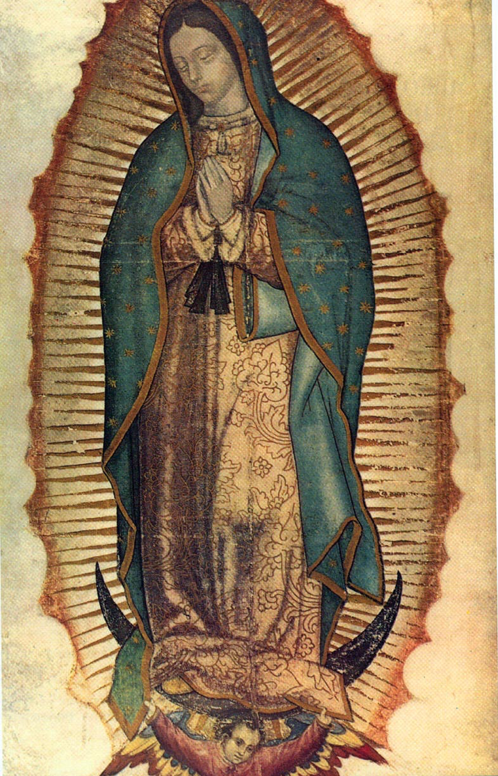 Image of our Lady of Guadalupe on the tilma of Juan Diego