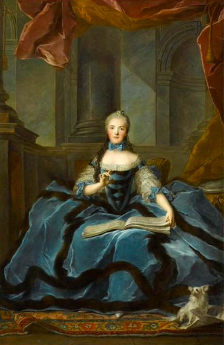 Madame Adélaïde daughter of Louis XV holding a book of music