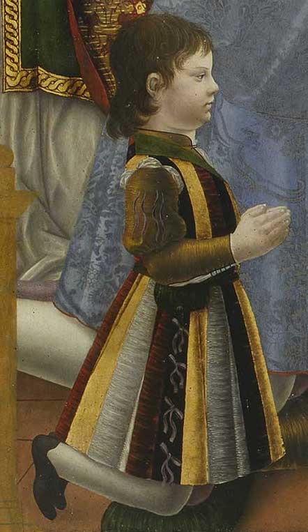Detail of Ludovico il Moro and his Family Kneeling before the Virgin