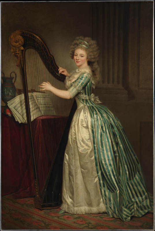 Self-Portrait with a Harp