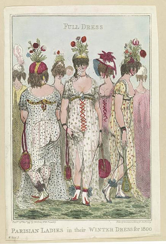 Parisian Ladies in their winter dress for 1800